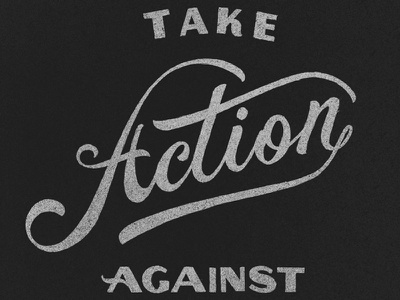 Take Action type lettering typography script ligature swash decorative sans serif vintage