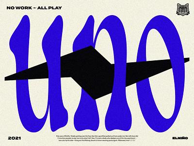 uno illustration cat blue bolt anniversary lightning funky logo branding type typography