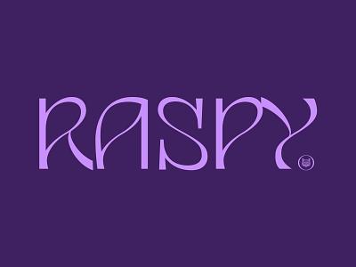 Raspy organic contrast art nouveau psychdelic funky bespoke design logo branding type lettering typography