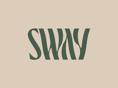 Sway wavy trippy wordmark water typography type sway sophisticated waves ocean logo lettering identity hotel elegant custom branding boutique bespoke beach