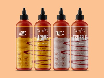 Drizzlers squeeze drip squirt drizzle wavy sauce bottle hot sauce packaging identity texture hand illustration script branding logo type typography lettering