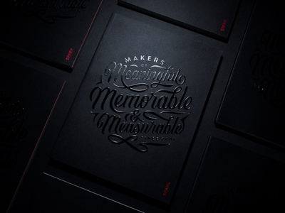 Meaningful, Memorable, & Measurable texture foil embossed print circle book design identity branding type typography lettering