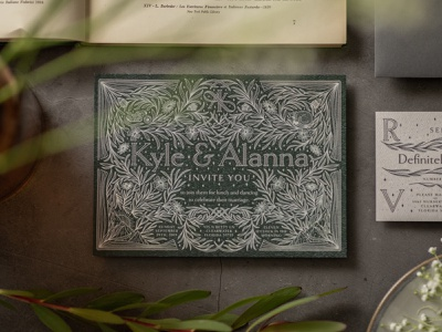 You're Invited wedding typography type serif plants monoline monogram invitation styling inline infinity illustration flowers elegant detailed cat card botanical k a