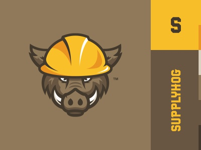 Supplyhog Logo animal logo construction hog branding supplyhog