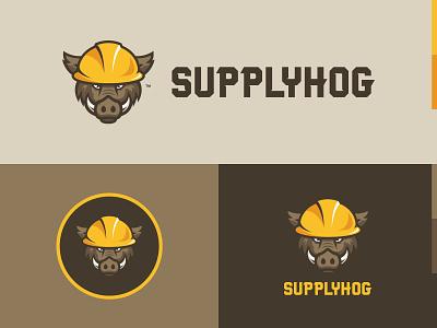 Supplyhog Logo Variations construction hog supplyhog branding logo