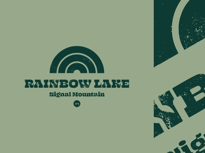 Rainbow Lake Design tennessee nature signal mountain chattanooga texture minimal vintage rainbow rainbow lake nativemade