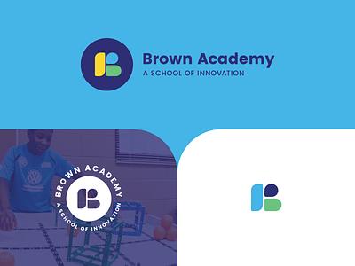 Brown Academy Brand branding innovation logo school elementary academy brand