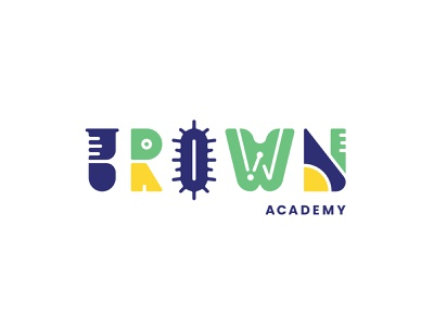 Brown Academy Rejected 1.0 branding math education technology science stem elementary school elementary academy brown rejected logo rejected
