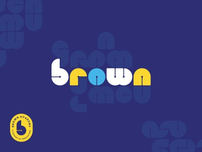 Brown Academy Rejected Logo 2.0 innovation pattern branding school logo elementary school elementary academy brown