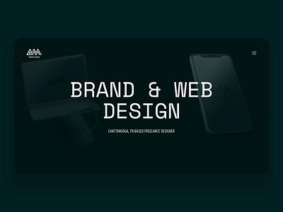 Adammade Portfolio Website strategy illustration branding webdesign chattanooga freelance website
