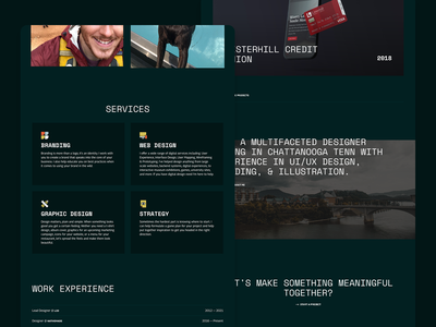 Adammade Portfolio Website strategy illustration branding graphicdesign website design webdesign website