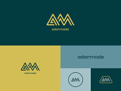 Adammade Brand badge ligature logo adammade branding