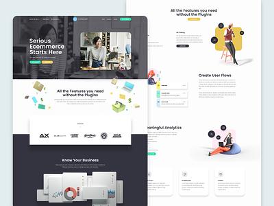 UltraCart Website 2020 clean minimal 3d characters website design layout website
