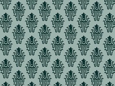 """Release the Hacken"" pattern vector print packaging branding pattern squid skuid hathathon"