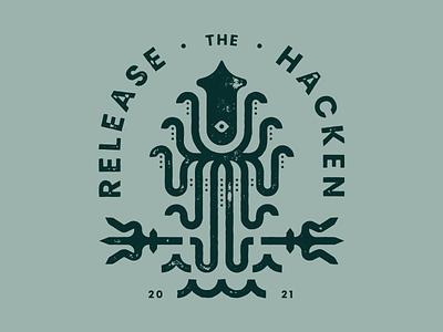 Hackathon Tee Design branding and identity texture packaging vector print branding hackathon squid tshirt