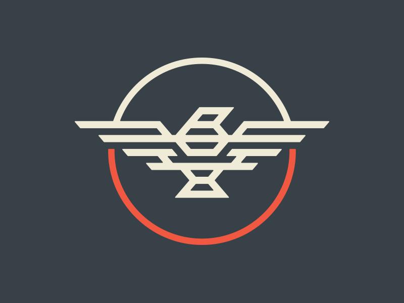 Straight Wing Bird branding wings nativemade logo bird