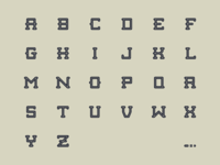 Modular Typeface Inline