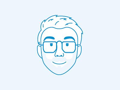 Selfie! selfie teun illustration icon logo blue dutch netherlands beard