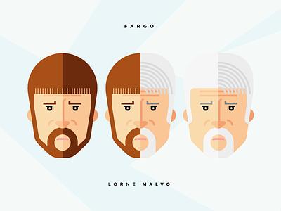 Lorne Malvo, Fargo thornton bob billy flat icon illustration billy bob thornton malvo lorne lorne malvo fargo