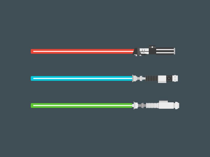 Darth Vader, Obi Wan Kenobi & Luke Skywalker starwars star wars illustration design flat lightsabers lightsaber luke skywalker obi wan kenobi darth vader