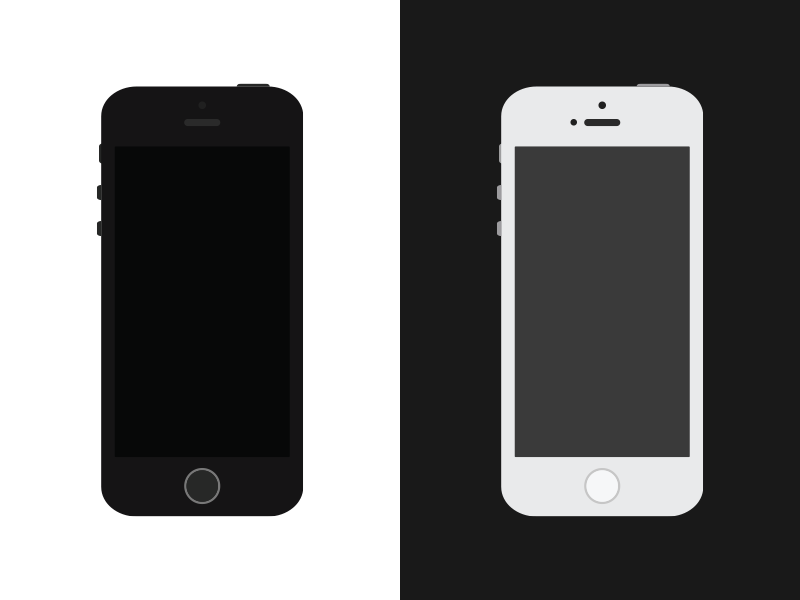 Freebie Simple Flat Iphone 5s Vector By Alberto Ziveri Dribbble Rh Com Blank IPhone X Skin Template