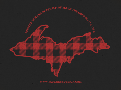 Plaid UP plaid screen print silkscreen serigraph print printmaking michigan upper peninsula