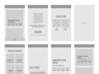 Countdown application wireframe