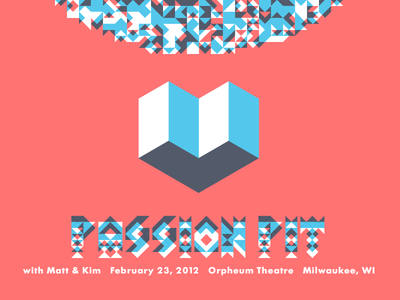 Passion Pit Poster poster geometry system type typography silkscreen screen print