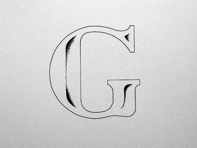 G type typography lettering hand drawn illustration inked sketch