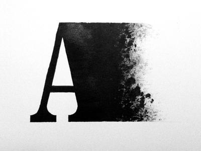 A type typography lettering hand drawn illustration inked sketch texture experiment