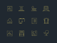 Interior and exterior icons