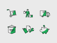 Delivery&service icons