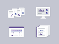 Web analytics icons