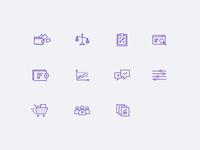 Usability and web analytics icons