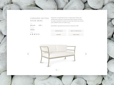 Furniture Detail website design brand experience design content strategy ux design ui design foster made
