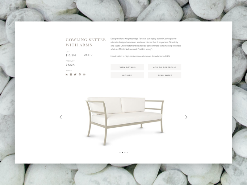 Furniture Detail website design brand experience design content strategy ux design ui design foster made