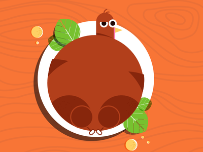 Turkey Solutions orange illustration turnkey thanksgiving turkey