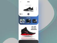 Brand online marketplace-Mobile app front page design
