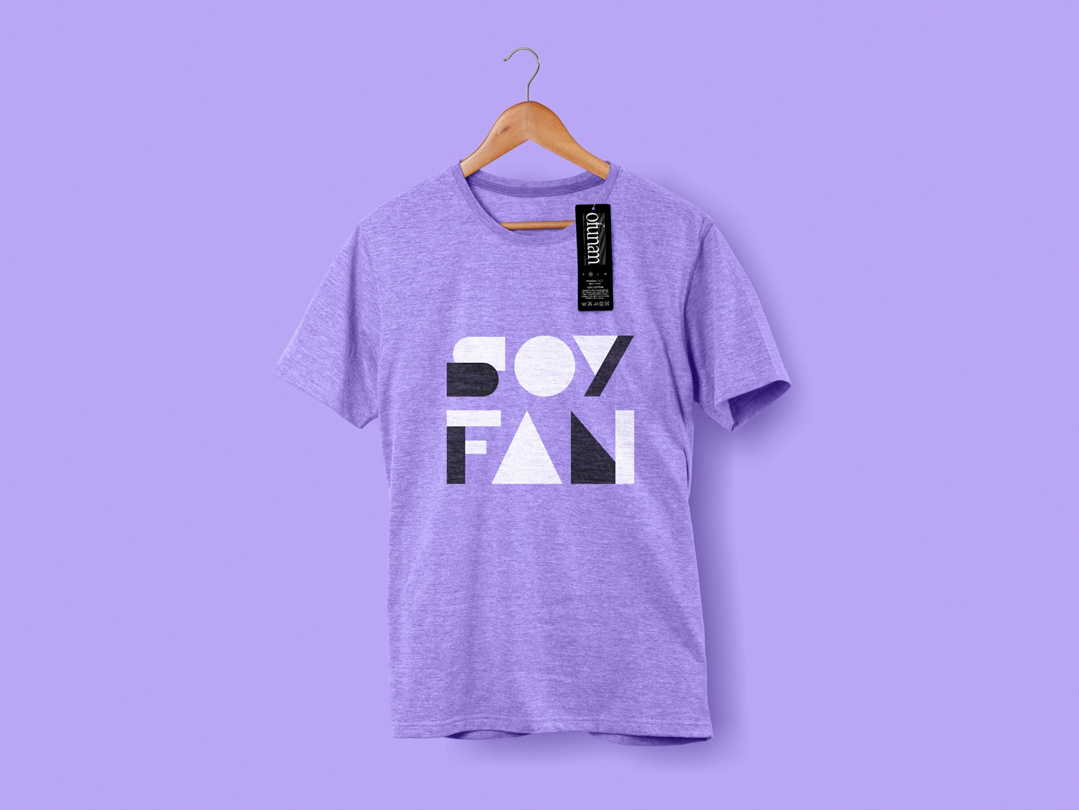 SOY FAN, Ofunam. T-Shirt logotipe logo typography shirt design branding