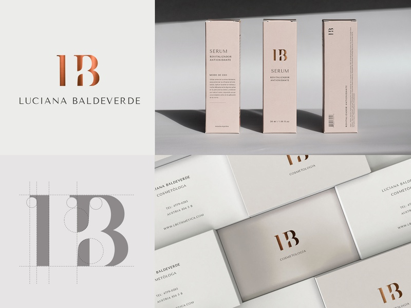 LB ∙ Brand identity business card design visual identity logo design logotype logo cosmetics beauty logo beauty art direction graphic design branding concept brand identity identity branding branding design brand