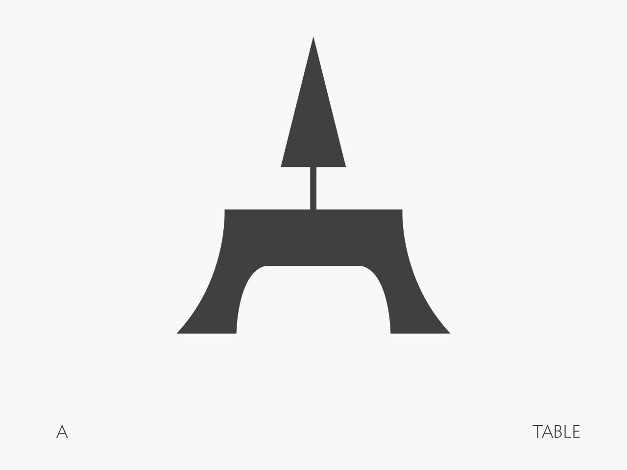 36 Days of Type - A logo design illustrator a icon 36days 36daysoftype 36days-1