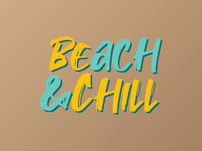 Beach & Chill merch apparel design print on demand chill beach summer tshirt design typography illustrator