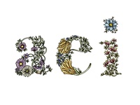 Floral Letters Illustration