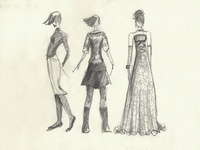 Fashion Illustration. Pencil Sketch