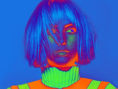 Dribbble Carmengrisolia Fashion Illustration 4 digital art photography fashion neon manipulation color photoshop