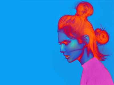 Dribbble Carmengrisolia Fashion Illustration 5 fashion digital art manipulation neon photography color
