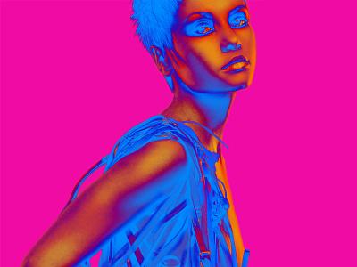 Dribbble Carmengrisolia Fashion Illustration 3 photoshop manipulation photography fashion color neon