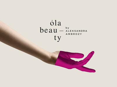 Ola Beauty Branding typography color branding beauty design logo pink fashion