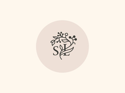 Monogram concept for an organic cosmetics brand monogram flower illustration flower icon branding typography logo design beauty pink illustration fashion