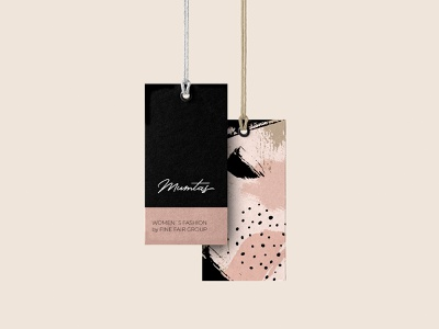 Hang Tags for fashion brand abstract pattern pattern fashion branding swing tag hangtag vector logo typography branding design beauty pink illustration color fashion